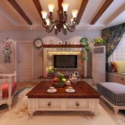 房屋客厅实木茶几展示