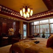 东南亚风格别墅客厅吊顶装饰