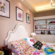 欧式粉色系女生卧室床头装饰