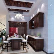 美式别墅餐厅桌椅装饰
