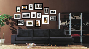 90平米单身公寓客厅照片墙设计效果图