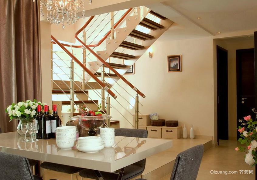 120平米简约跃层阁楼楼梯装修效果图