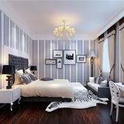复式楼简约风格卧室石膏板墙饰装饰