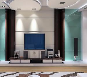 现代欧式小户型电视背景墙装修效果图鉴赏