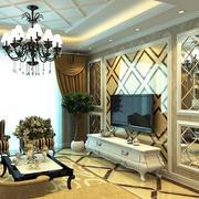 欧式奢华风格影视墙装饰