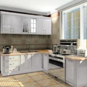 90平米大户型欧式厨房装修效果图实例鉴赏