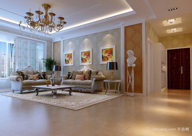 大户型自然风格沙发背景墙效果图