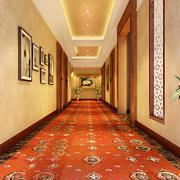 欧式风格商务酒店过道装修效果图