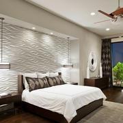 90平米主卧室3d背景墙装修效果图片