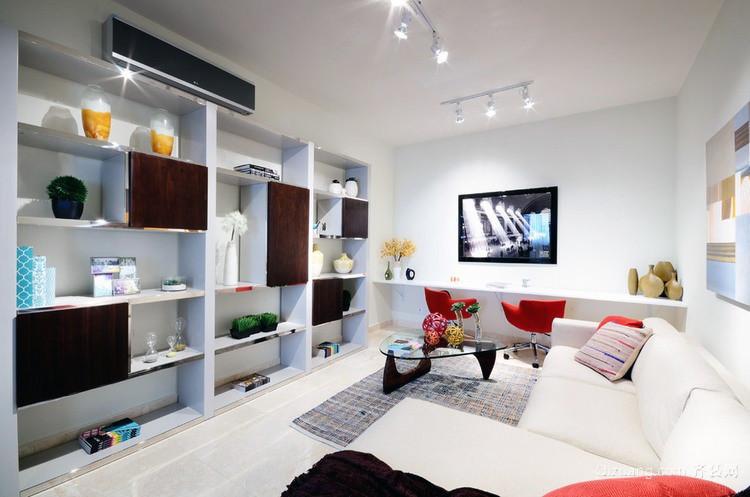 现代简约小清新小户新房布置装修效果图