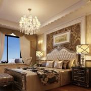 90平米大户型欧式卧室背景墙装修效果图实例