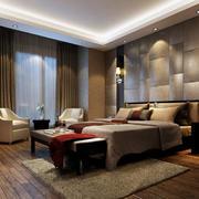 120平米简欧卧室3d背景墙装修图片