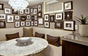 个性复古60平米餐厅照片墙设计效果图