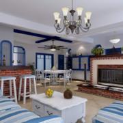 现代大户型地中海风格客厅装修效果图鉴赏