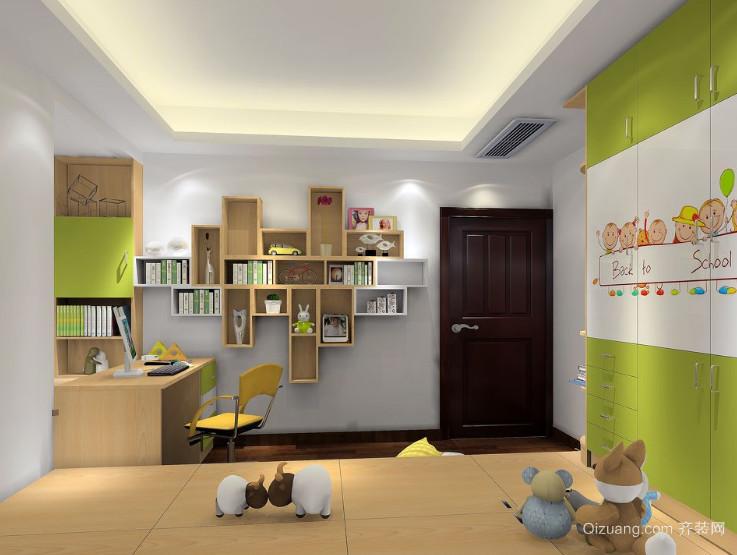 现代欧式大户型儿童房高低床装修效果图鉴赏