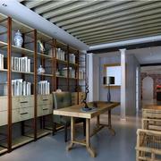 大户型后现代风格书房装修效果图