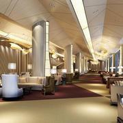 奢华大户型酒店餐厅装修设计效果图