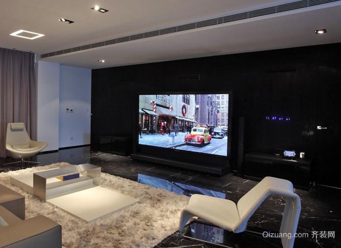 120平米简约风格客厅影视墙装修效果图