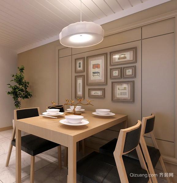 简约素雅小户型餐厅照片墙设计效果图