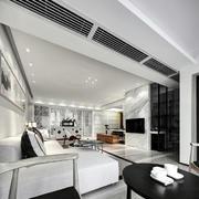房屋客厅瓷砖电视背景