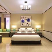 公寓卧室床头背景墙装饰画