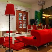 都市风格两室一厅客厅家具装修效果图