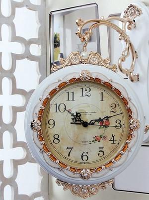 108平米田园风格客厅挂钟装修效果图