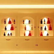 暖色调酒柜效果图片