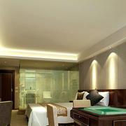 现代简约风格宾馆自带棋牌室卧室装修效果图