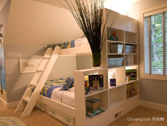 90平米大户型欧式儿童房高低床装修效果图