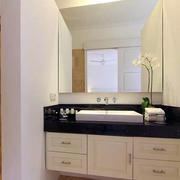 118平米淡色调卫生间洗脸盆装修效果图