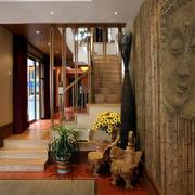 复式楼实木楼梯欣赏