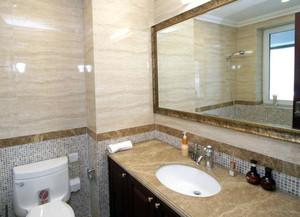 两室一厅小户型卫生间洗脸盆装修效果图