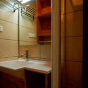 小型复式楼日式简约风格卫生间洗脸盆装修效果图