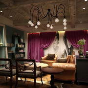 美式简约风格婚纱影楼休息室装修效果图