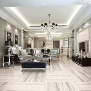 精致的欧式大户型室内客厅装修效果图鉴赏