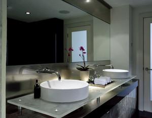 120平米复式楼后现代风格卫生间洗脸盆装修图