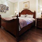 复式楼卧室实木床