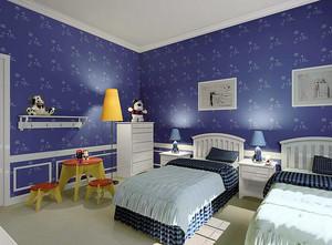 复式楼时尚风格液体壁纸装修效果图片