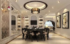 格调高雅混搭350平米复式楼餐厅效果图