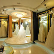 欧式风格大型精致婚纱影楼展台装修效果图