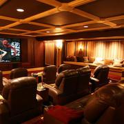 三居室悠闲雅致家庭影院装修效果图