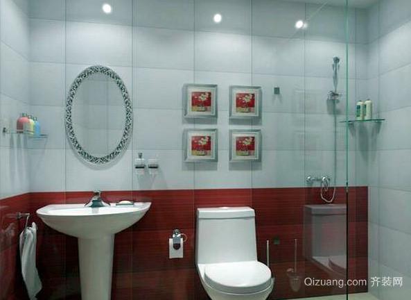 跃层宜家风格卫生间洗脸盆装修效果图