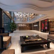 大户型精致酒店大厅装修设计效果图