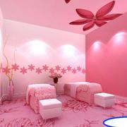 现代简约风格粉色系美容院装饰