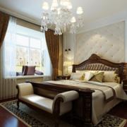 90平米大户型欧式卧室背景墙装修效果图鉴赏