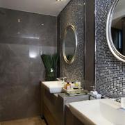 别墅时尚风格卫生间洗脸盆装修效果图