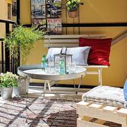都市混搭风格阳台吊椅装修效果图