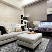 交互空间简约沙发背景墙装饰