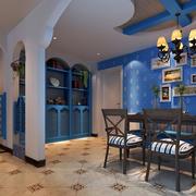 地中海风格150平米大户型餐厅效果图
